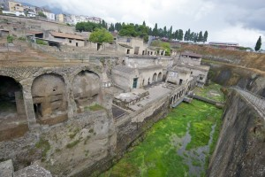 The archaeological site of Herculaneum